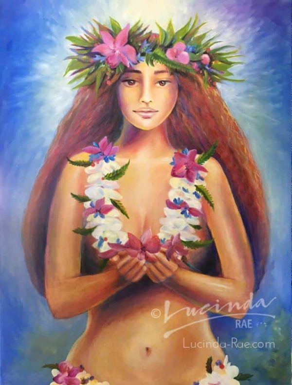 "Mama Hawaii, Original Oil Painting, 30"" x 40"""