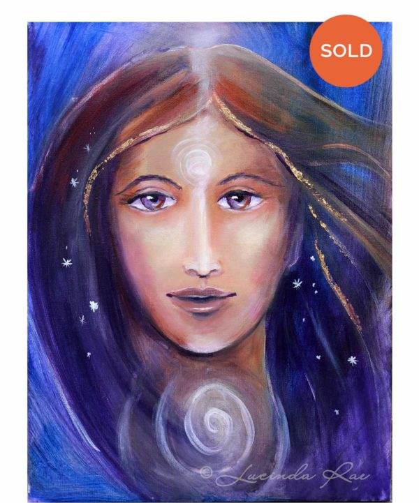 "{ SOLD } Divine Wisdom, Original Painting by Lucinda Rae, 18"" x 24"""